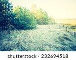 vintage photo of rural green... | Shutterstock . vector #232694518