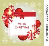 christmas greeting card. vector ... | Shutterstock .eps vector #232695070