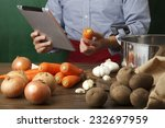 search for recipes in the... | Shutterstock . vector #232697959