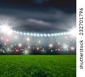 soccer ball on green stadium... | Shutterstock . vector #232701796