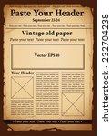 vintage old paper | Shutterstock .eps vector #232704238
