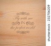 vector illustration of  wood... | Shutterstock .eps vector #232706209