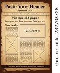 vintage old paper | Shutterstock .eps vector #232706728