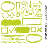 hand drawn highlighter elements ... | Shutterstock .eps vector #232708834