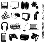 computer input output devices... | Shutterstock .eps vector #232712050