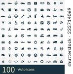 auto icons vector set | Shutterstock .eps vector #232714069