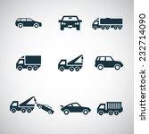 cars icons set on white... | Shutterstock .eps vector #232714090