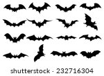 bats icons set | Shutterstock .eps vector #232716304