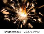 christmas sparkler on black... | Shutterstock . vector #232716940