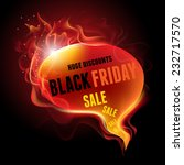 black friday sale advertisement.... | Shutterstock .eps vector #232717570