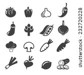 vegetables icon set | Shutterstock .eps vector #232720228