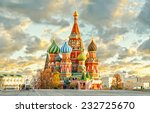 Moscow,Russia,Red square,view of St. Basil