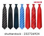 set realistic colorful neckties. | Shutterstock .eps vector #232726924
