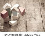 wooden building blocks | Shutterstock . vector #232727413