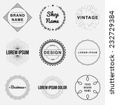 Set Of Retro Vintage Badges An...
