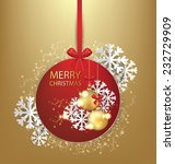 christmas greeting card. vector ... | Shutterstock .eps vector #232729909