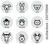 animals simple icons | Shutterstock .eps vector #232735048