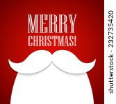 christmas card with a beard and ... | Shutterstock .eps vector #232735420