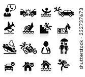 insurance icons set. vector... | Shutterstock .eps vector #232737673