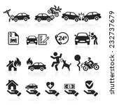 insurance icons set. vector... | Shutterstock .eps vector #232737679