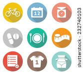 fitness and sport vector icons... | Shutterstock .eps vector #232740103