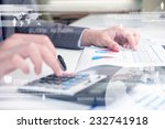 business person using... | Shutterstock . vector #232741918