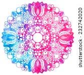 watercolor abstract design... | Shutterstock .eps vector #232742020