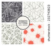 vector set of four seamless... | Shutterstock .eps vector #232743823