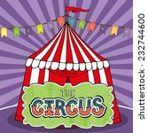 circus tent poster template.... | Shutterstock .eps vector #232744600