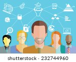 data analytics concept  data... | Shutterstock .eps vector #232744960