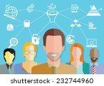 data analytics concept  data... | Shutterstock .eps vector #232744960