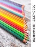 colored pencils  | Shutterstock . vector #232747720