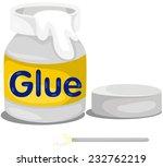 illustration of isolated glue...   Shutterstock .eps vector #232762219