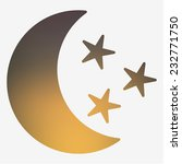 weather icon. moon and stars.... | Shutterstock .eps vector #232771750