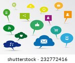social media concept design | Shutterstock .eps vector #232772416