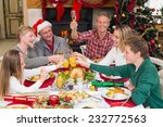 extended family toasting at... | Shutterstock . vector #232772563