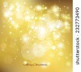golden christmas background... | Shutterstock .eps vector #232773490