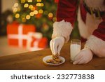Santa Picking Cookie And Glass...