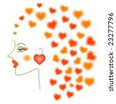 art girl with heart hair   Shutterstock .eps vector #23277796