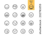 smiley faces icons. vector... | Shutterstock .eps vector #232781053