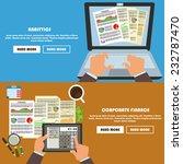 set of flat design concept for... | Shutterstock .eps vector #232787470