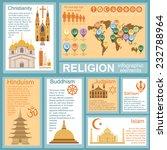 religion infographics. vector... | Shutterstock .eps vector #232788964