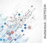 abstract technology business... | Shutterstock .eps vector #232792144