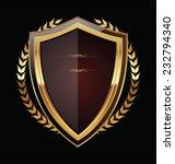 golden shield | Shutterstock .eps vector #232794340
