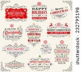 vector christmas chalkboard... | Shutterstock .eps vector #232795198