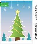 christmas tree | Shutterstock .eps vector #232795543