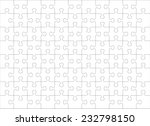 Stock vector jigsaw puzzle blank template or cutting guidelines of transparent pieces landscape orientation 232798150