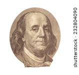 portrait of benjamin franklin  | Shutterstock . vector #232804090