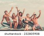 group of happy multi ethnic... | Shutterstock . vector #232805908