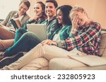 group of multi ethnic young... | Shutterstock . vector #232805923